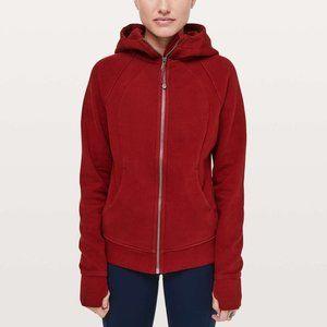 Lululemon Scuba Hoodie Red Fleece Zip Up